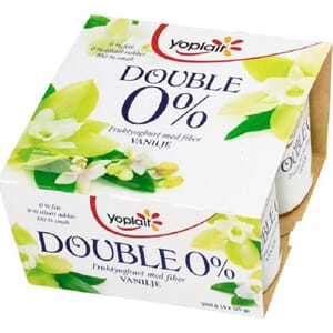 YOPLAIT DOUBLE 0% VANILJE 4X125G