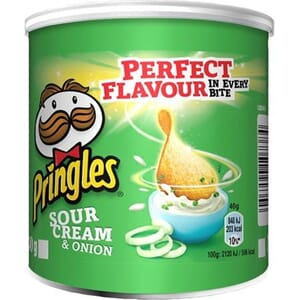 PRINGLES SMALL CAN SOUR CREAM&ONION 40G